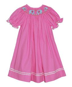 Look what I found on #zulily! Pink Elephant Bishop Dress - Infant, Toddler & Girls by Silly Goose #zulilyfinds
