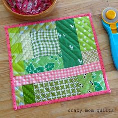 crazy mom quilts: Concentric squared off spiral quilting