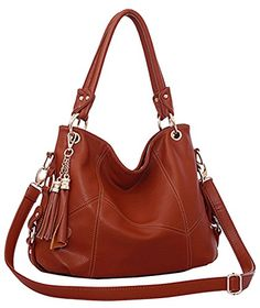 BG® Women Retro Tassels Casual Hobo Style PU Leather Shoulder Handbags