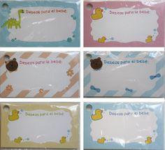 Baby shower wishes cards Set of 12 por Tianguisonline