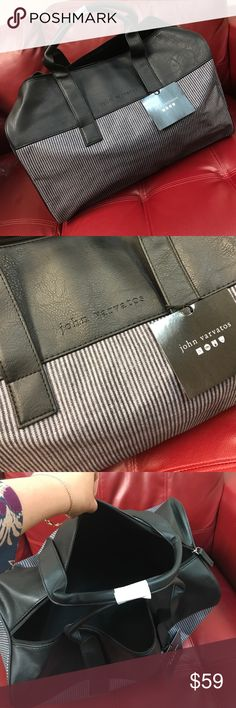 John Varvatos bag purse travel luggage new John Varvatos bag purse travel luggage Canvas/faux leather   Color: Grey  19 inches long, 8 inches wide and 12 inches high John Varvatos Bags Travel Bags