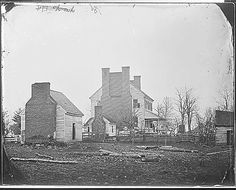 Quartermaster's Headquarters in City Point, Virginia.  City Point was the location of the Union headquarters at the Siege of Petersburg during the Civil War. City Point was annexed by the city of Hopewell in 1923.