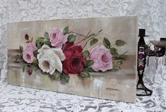 Assorted Roses, painted on stretched canvas www.gailmccormack.com