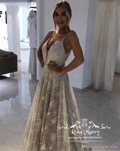 Sparkly Sequined Backless Evening Dresses 2019 A Line Plus Size Arabic  African Girls Pageant Celebrity Formal f9b6615d73aa