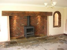images inglenook brick fireplaces - Google Search
