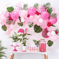 Aloha Party, Party Kulissen, Ideas Party, Party Kit, Décoration Baby Shower, Flamingo Baby Shower, Bridal Shower, Baby Showers, Pink Flamingo Party