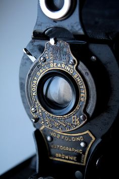 ♂ Kodak No.2 Folding Autographic Brownie - Camera detail