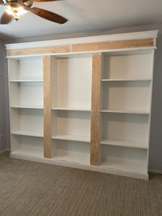 Ikea Billy Bookcase Hack, Bookcase Wall, Built In Bookcase, Billy Bookcase Office, Ikea Billy Hack, Billy Bookcases, Bookshelves, Libreria Billy Ikea, Home Office Decor