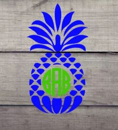 Excited to share this item from my shop: Pineapple Monogram Vinyl Decal Pineapple Monogram, Cute Pineapple, Yeti Decals, Vinyl Decals, Grad Gifts, Teacher Gifts, Star Nail Art, Vinyl Monogram, Cornhole Set