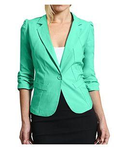 LE3NO Womens Plus Size Blazer Jacket with Stretch
