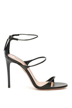 Get the must-have sandals of this season! These Aquazzura Black Minute 105 Sandals Size EU 37 (Approx. US Regular (M, B) are a top 10 member favorite on Tradesy. Save on yours before they're sold out! Black Sandals, Black Heels, Leather Sandals, Sexy Heels, High Sandals, Women's Sandals, Strappy Heels, Beautiful Sandals, Beautiful High Heels
