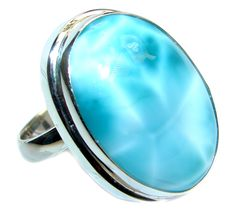 $80.55 Genuine+Larimar++Sterling+Silver+handmade+Ring+size+adjustable at www.SilverRushStyle.com #ring #handmade #jewelry #silver #larimar