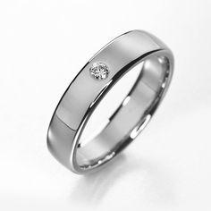 Titanium engagement ring simple titanium diamond by KorusDesign