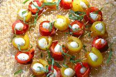 The Italian Dish - Posts - Roasted Pepper and MozzarellaBites