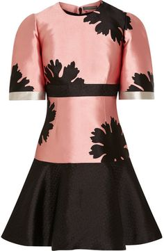 Alexander McQueen Floral-jacquard mini dress