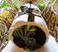 Sac tissu Wax motif africain beige vert et marron (envoi 0€) : Sacs à main par cewax