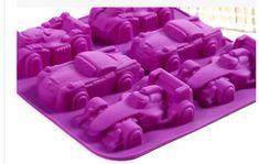 Racing car silicone mold, candle molds, fondant cake, chocolate, handmade soap mold, baking tools,