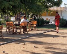 Petanque at The Parker Palm Springs...absolutely fabulous