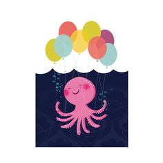Birthday octopus by lisadoodle on etsy