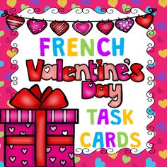 This file includes 28 French Task Cards with sentences and questions related to Valentine's Day. Students enjoy the variety of the questions from one task to the other since they can't anticipate what the next task will be.