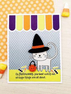 https://flic.kr/p/K5pVNk   Stitched Witch Hat, Superstition Stamp Set, Cat's…