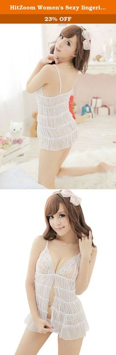 HitZoom Women's Sexy lingerie Yarn skirt Cosplay Suit Hot T-back Nightwear. Due to different computers display colors differently, the color of the actual item may vary slightly from the above images, thanks for your understanding. .