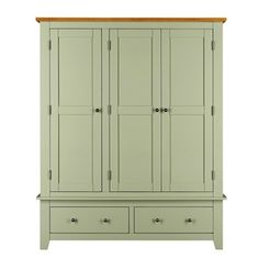 Charlton Green Painted Triple Wardrobe - The Cotswold Company Triple Wardrobe, Wardrobes, Cupboard, Bedroom Furniture, Armoire, Tall Cabinet Storage, Porch, Painting, Design