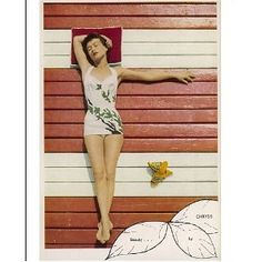 Photographic Print of 1950s sunbathing from Mary Evans