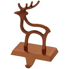 Simply Designz Reindeer Stocking Holder (24 CAD) ❤ liked on Polyvore featuring home, home decor, holiday decorations, copper, deer christmas stocking, reindeer christmas stocking, reindeer stocking holder, holiday reindeer decorations and reindeer stocking hanger