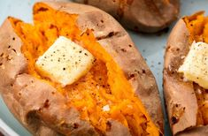 Best Baked Sweet Potato Recipe - How to Bake Whole Sweet Potatoes in Oven Baked Sweet Potato Oven, Perfect Baked Sweet Potato, Sweet Potato Toast, Sweet Potato Recipes, Baked Cod, Baked Chicken, Potatoes In Oven, Cooking Sweet Potatoes, Veggies