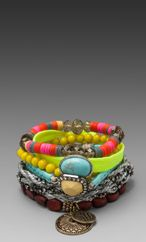 Revolve - Summer 2013 Collection - Free Shipping! Bracelets layered stack bohemian fluro neon beaded cord aztec samantha wills jewellery jewelry bright