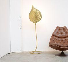 Brass Floor lamp Rabarbaro by Carlo Giorgi for Bottega Gadda.