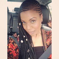 Loving this boho Beyonce-inspired braids.#braids #protectivestyling #cornrows…