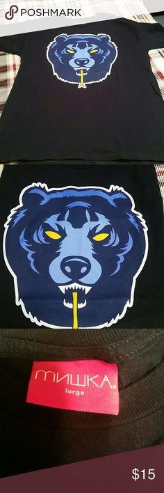 Mishka NYC Bear t shirt Made in the USA graphic t.  MNWKA means bear cub. NYC based clothing company. Navy. Perfect condition. Mishka NYC Shirts Tees - Short Sleeve