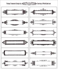 Vintage Framework Labels by Cathe Holden (escribir dentro)