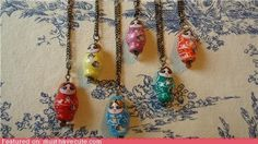 Russian Doll Necklaces