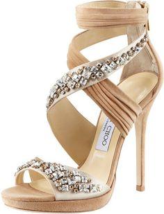 ShopStyle: Jimmy Choo Kani Crisscross Platform Sandal