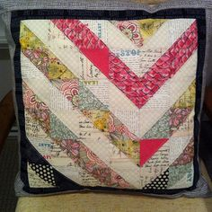 Pillow Pop Chevron Pillow by kmkauckland via Threadbias. Uses Cori Dantini's Beauty is You collection