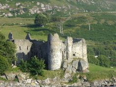 Castle Sween on Loch Sween, Knapdale, Argyll.  Believed to be the oldest stone castle in Scotland