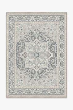 The Hendesi Heriz Abalone Rug is a classic Persian-style rug that features an oversized medallion in the center surrounded by ornate borders. Tinted in neutral colors, this sophisticated rug will elevate any room in your home. Washable Rugs, Persian Style Rug, Persian Rug, Washable, Black White Rug, Rugs, Rug Stain, Ruggable, Machine Washable Rugs
