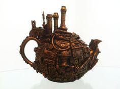 steampunk tea pot by richardsymonsart.deviantart.com on @deviantART