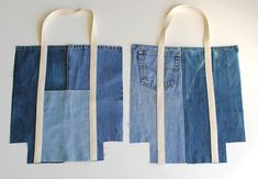 Wonderful Totally Free Upcycle Jean shopping bag - UPCYCLING IDEAS Ideas I really like Jeans ! And much more I like to sew my own personal Jeans. Next Jeans Sew Along I am Denim Tote Bags, Diy Tote Bag, Denim Bags From Jeans, Denim Purse, Diy Bag Denim, Diy With Jeans, Quilted Tote Bags, Denim Handbags, Trash To Couture
