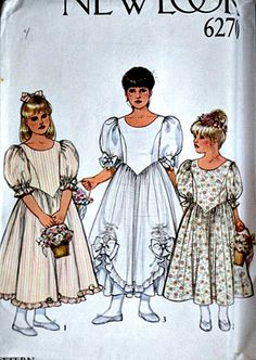 New Look 6270 Sewing Pattern Girls. Dress by MemoryMadeMercantile