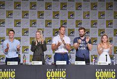 Alex with Cast vikings #comic_con
