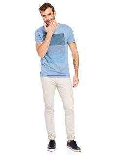 Block Blue Tee | Just Jeans