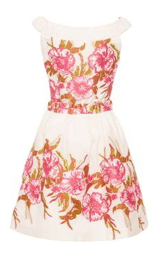 Floral Embroidered A-line Dress by Blumarine for Preorder on Moda Operandi