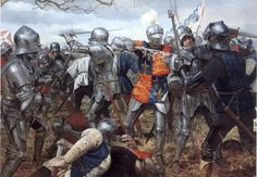 King Henry V in melee combat at the Battle of Agincourt, Hundred Years War