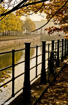 Autumn in Berlin, Germany-by Juan Tome Nestal Oh The Places You'll Go, Places To Travel, Places To Visit, Wonderful Places, Beautiful Places, Travel Around The World, Around The Worlds, Berlin Hauptstadt, Little Paris