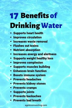 What are the health benefits of drinking water? How much water should I drink a day in ounces, liters, or bottles? Learn all about water and how to find clean water and filter dirty water in an emergency. benefits 17 Miraculous Benefits of Drinking Water Health Facts, Health And Nutrition, Health And Wellness, Health Fitness, Holistic Nutrition, Health Goals, Health Quotes, Health Motivation, Fitness Diet
