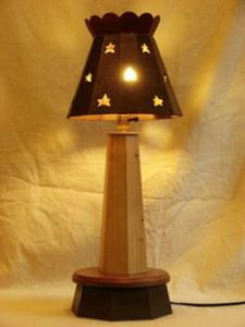 star lamp decor from recycled wood
